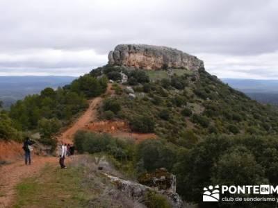 Senderismo Guadalajara - Monumento Natural Tetas de Viana; luna llena madrid